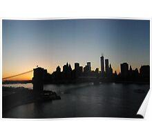 View from Manhattan Bridge Poster