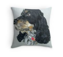 English Cocker Spaniel Dog Throw Pillow