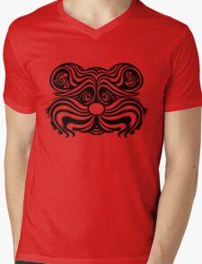 Tiger Teddy Graphic Mens V-Neck T-Shirt