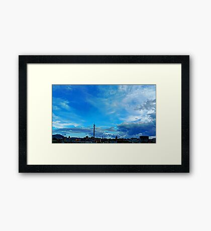 ©HCS In The Blue Cloudscape II HDR Framed Print