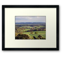 English Countryside at Dusk Framed Print