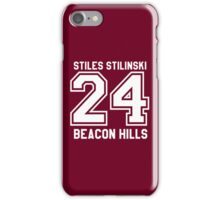 Stiles Stilinski #24 iPhone Case/Skin
