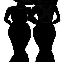 Forever Friends Black and White Silhouette by kreativekate