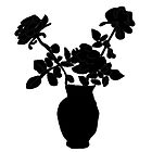 Black and white vase of flowers  by kreativekate