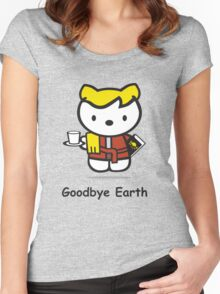 Goodbye Earth Women's Fitted Scoop T-Shirt