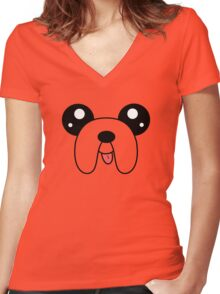 Adventure Dog Women's Fitted V-Neck T-Shirt