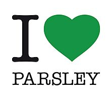 I ♥ PARSLEY Photographic Print