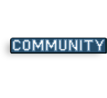 8-Bit Community Logo  Canvas Print