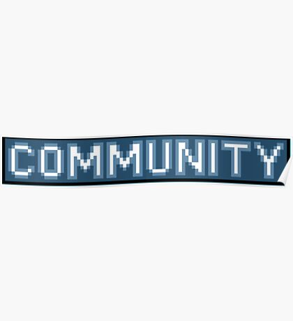 8-Bit Community Logo  Poster