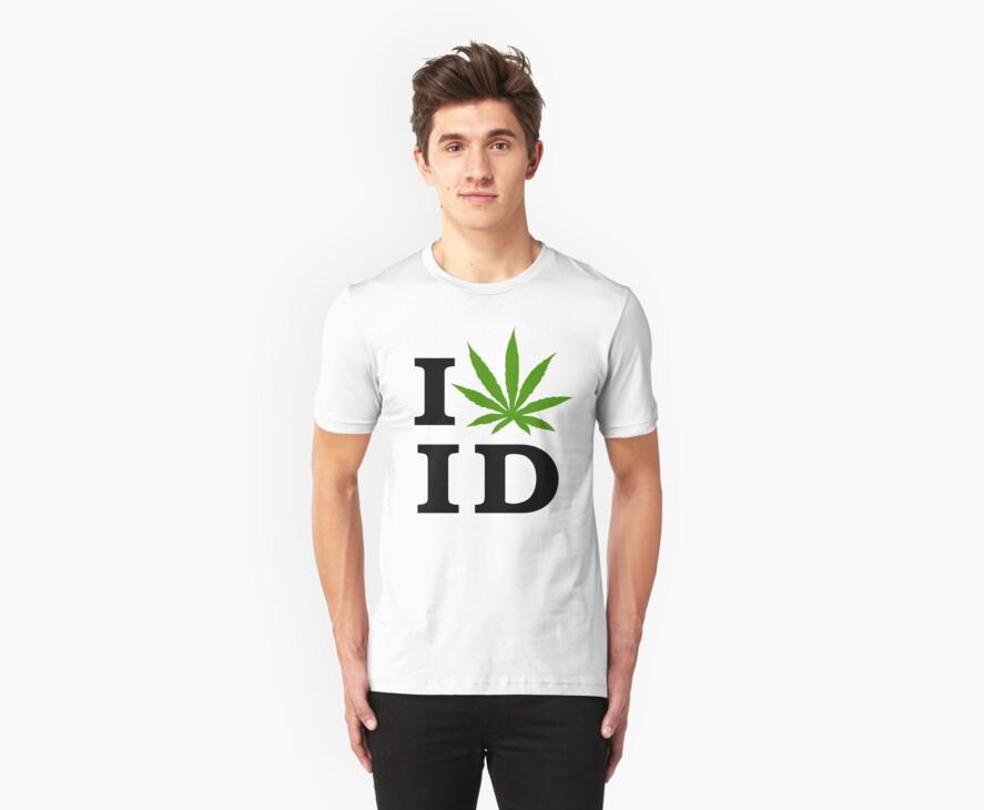 I Love Idaho Marijuana Cannabis Weed by MarijuanaTshirt
