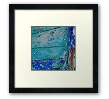 Camaret - La coque bleue Framed Print