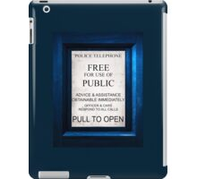 Tardis Text on..Everything.Quite geeky. iPad Case/Skin