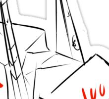 Ayano's paper crane Sticker