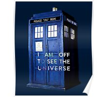 WARNING! Off to see the universe w/doctor Poster