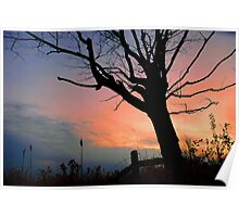 Countryside Sunset.. Poster