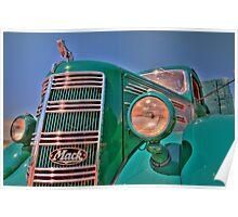 Green Mack Truck Poster