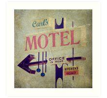 Carl's Motel Art Print