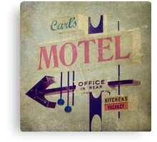 Carl's Motel Canvas Print