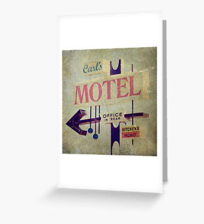 Carl's Motel Greeting Card