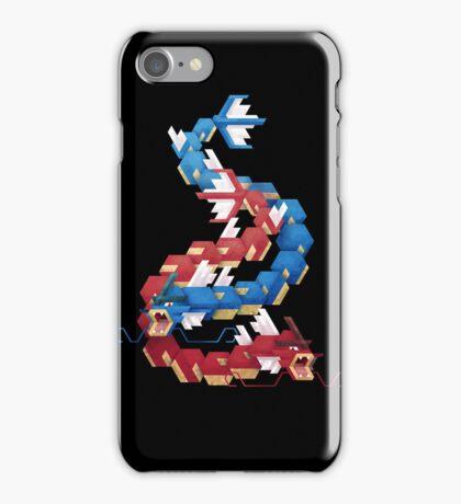 Blue and Red Gyarados iPhone Case/Skin