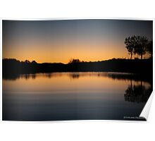 Sunset In Sunset Geraldton Poster