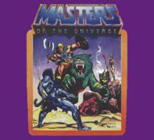 He-Man Masters of the Universe Battle Scene with Skeletor by jackandcharlie