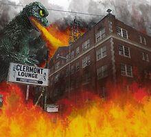 Clermont v/s Godzilla by Tabitha Fringe Chase