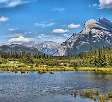 Vermillion Lakes and Rundle Mountain by Vickie Emms