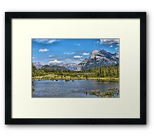 Vermillion Lakes and Rundle Mountain Framed Print
