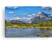 Vermillion Lakes and Rundle Mountain Canvas Print
