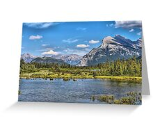 Vermillion Lakes and Rundle Mountain Greeting Card
