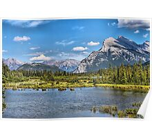 Vermillion Lakes and Rundle Mountain Poster