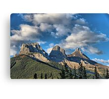 Three Sisters Range, Canmore, Alberta Canvas Print