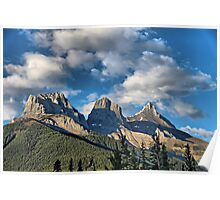 Three Sisters Range, Canmore, Alberta Poster