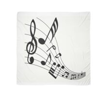 Black Music Notes Scarf