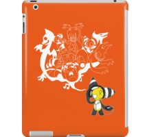 Music Demon Orange iPad Case (White Outline) iPad Case/Skin