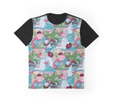 seamless pattern of doodle of crazy sea-life creatures having fun 2 Graphic T-Shirt