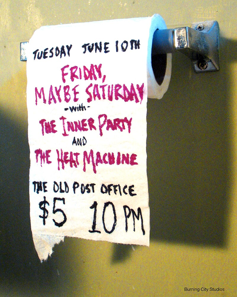 The Inner Party Show Flyer - June 10, 2008 - V1 by Keith Miller