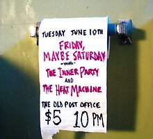 The Inner Party Show Flyer - June 10, 2008 - V2 by Keith Miller