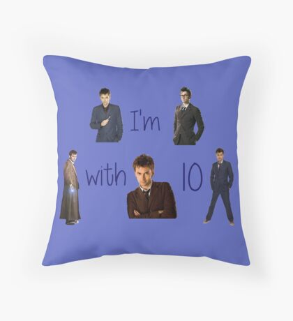 Doctor who- 10th doctor  Throw Pillow
