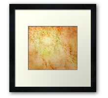 Glowing Parchment Framed Print