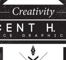 Vincent H. Kolb Promo Design- Black Sticker