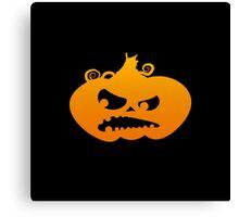 Pumpkin Angry Canvas Print