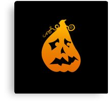 Pumpkin Scared Canvas Print