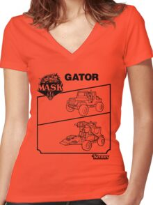 M.A.S.K. - Gator Women's Fitted V-Neck T-Shirt