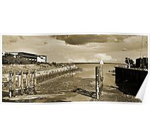 Tide Out in the Drydock Poster