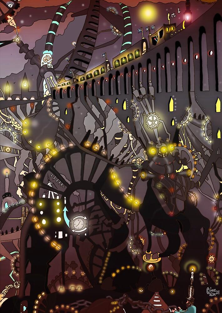Steampunk Monday [Dark version] by Grant Wilson
