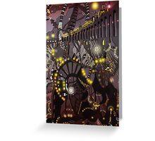 Steampunk Monday [Dark version] Greeting Card