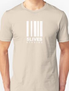 5 Lives Studios White T-Shirt