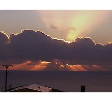 Sun rise in Cornwall Photographic Print